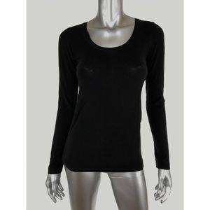 Theory Womens Knit Top T Shirt Sz P XS Black